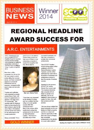 Scoot Headline Award 2014