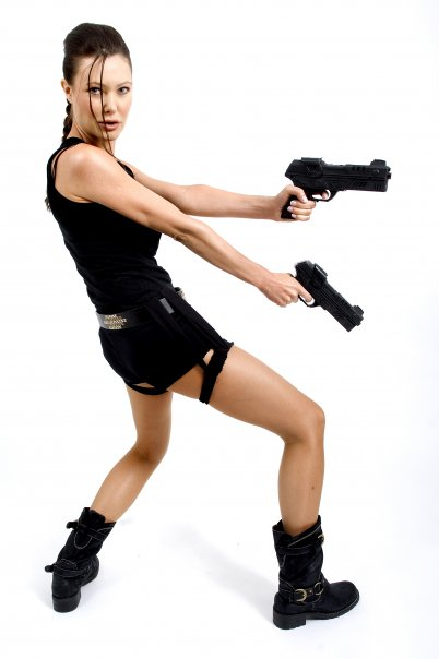 Sienna Taylor as Angelina Jolie Lara Croft lookalike