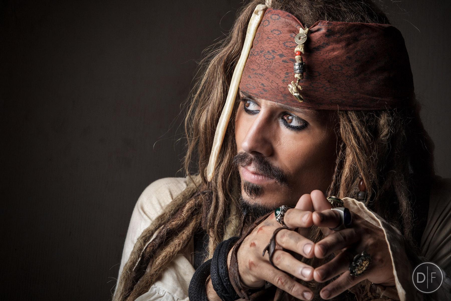 Captain Jack Sparrow look-a-like Simon Newton