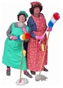 Cleaners (Mrs Mopps)  Walkabout characters by Snapshot Productions from Nottinghamshire