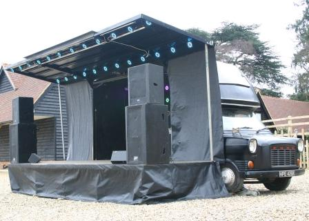 Solar powered Camper Stage 6x4m