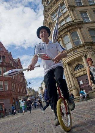 Tim Byrom of Zoot Circus Juggler Circus Skilled Performer South Yorkshire
