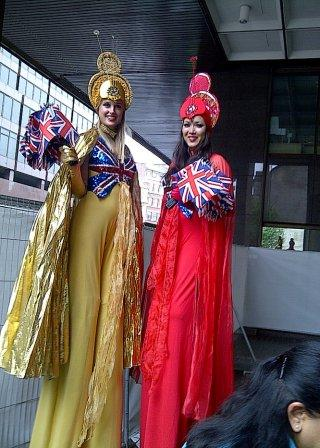Britannia Stilt Walkers by The Dream