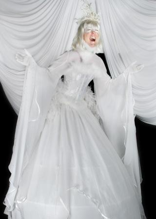 The Crystal Queen Stilt walker by The Dream
