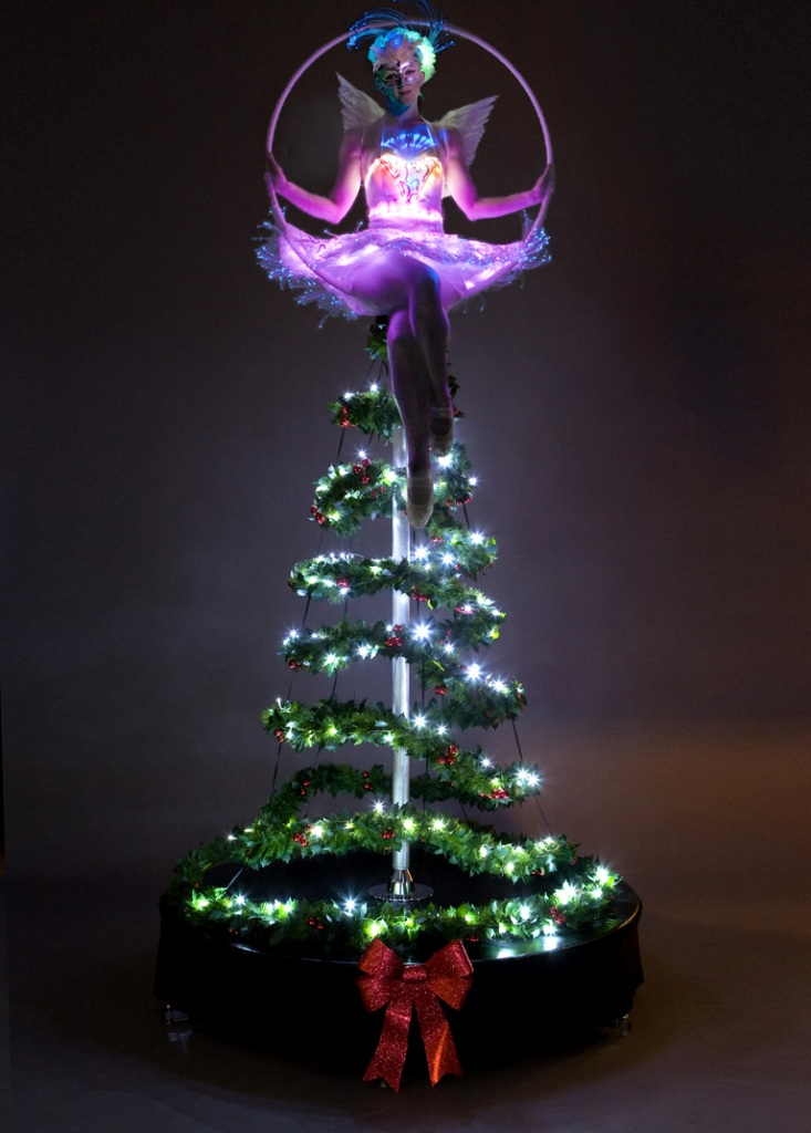 LED Fairy on Christmas Tree Aerial Hoop - London - Tink