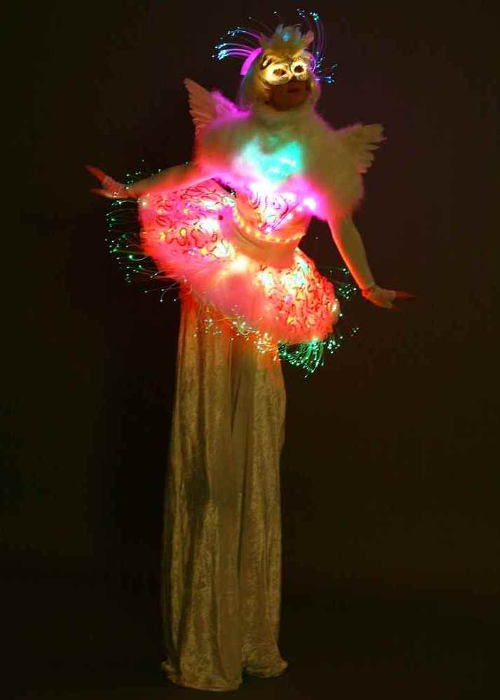 LED Angel on stilts 3