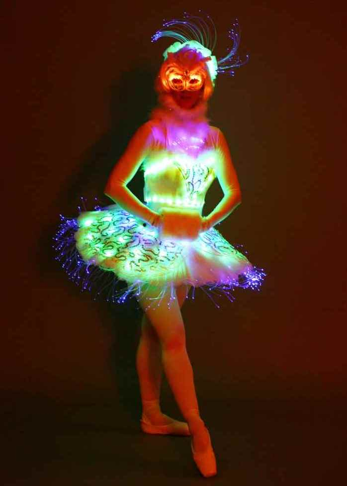 LED Ballet Dancer on Stilts