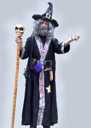 Allin Kempthorne as Runefungle the Warlock available for Halloween and other Themed Events