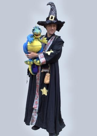 Allin Kempthorne as Wizzall the Wizard is available for Halloween or Themed Events