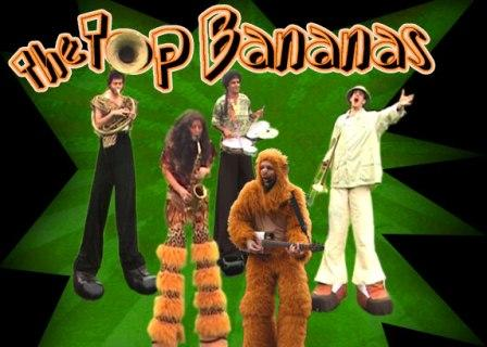The Top Bananas Stiltwalking musicians