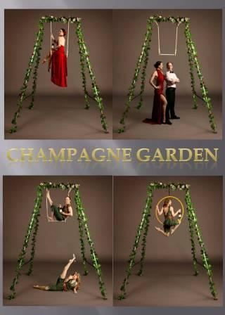 Aerial Bartender Champagne Garden by The Dream Performance London
