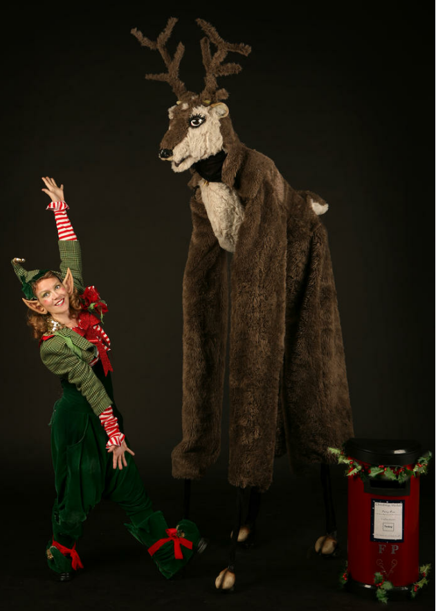 Reindeer and Elf from The Dream Performance London