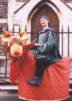 Singing Reindeer Walkabout Character - Dyfed Wales - Tony Heales