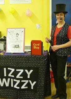 Tracey Class as Izzy Wizzy Magic Show Teesside