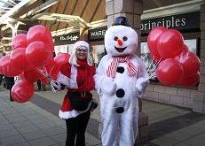 Snowman with minder Teesside (TR)