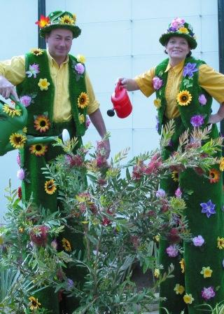 Floral Stilt Walkers by Upshot Circus