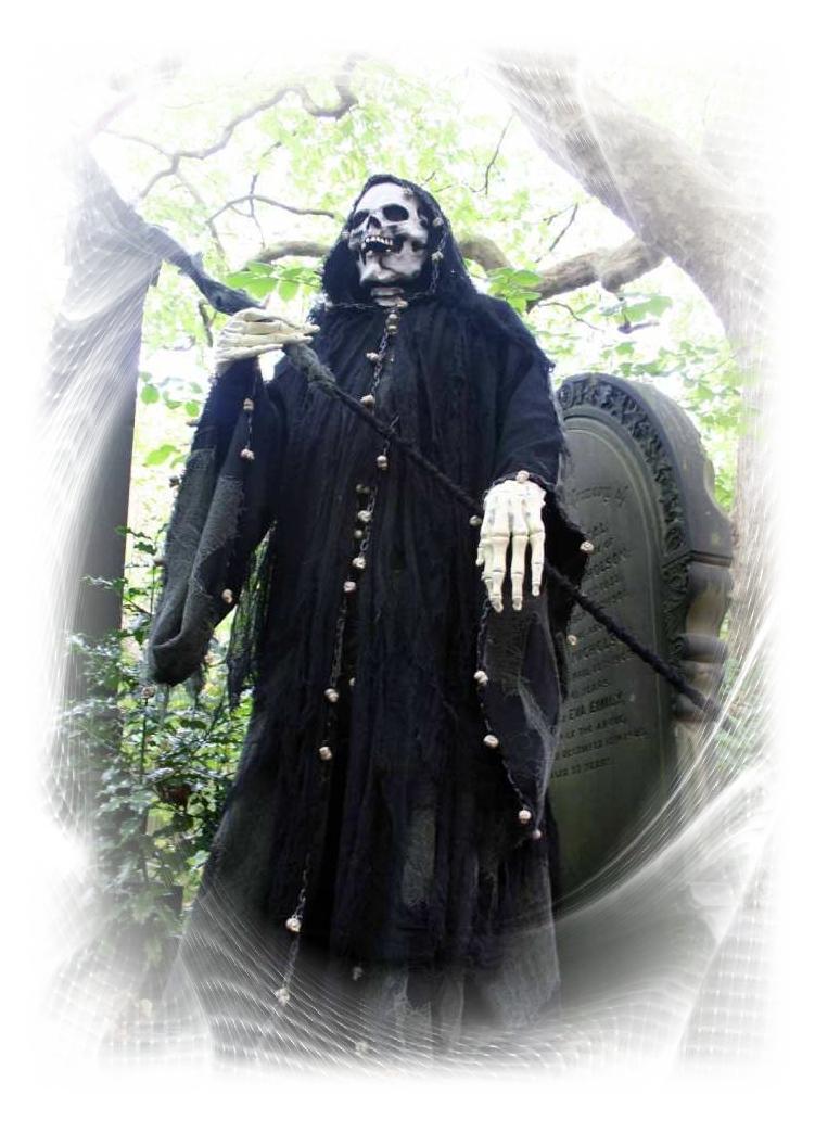 Grim Reaper Stilt walker Upshot Circus S Yorks