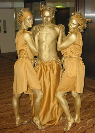 Golden Statues, Greek Statues, Roman Statues