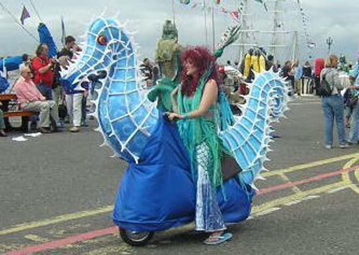 Mermaids on Seahorses