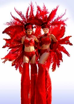 showgirls on stilts