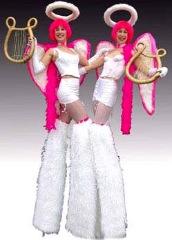 angels on stilts (pink)