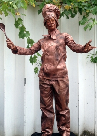 Chef Human Statue