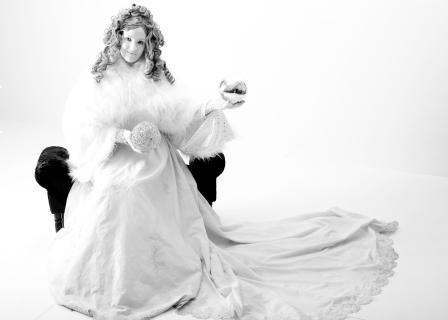 Snow Queen Human Statue
