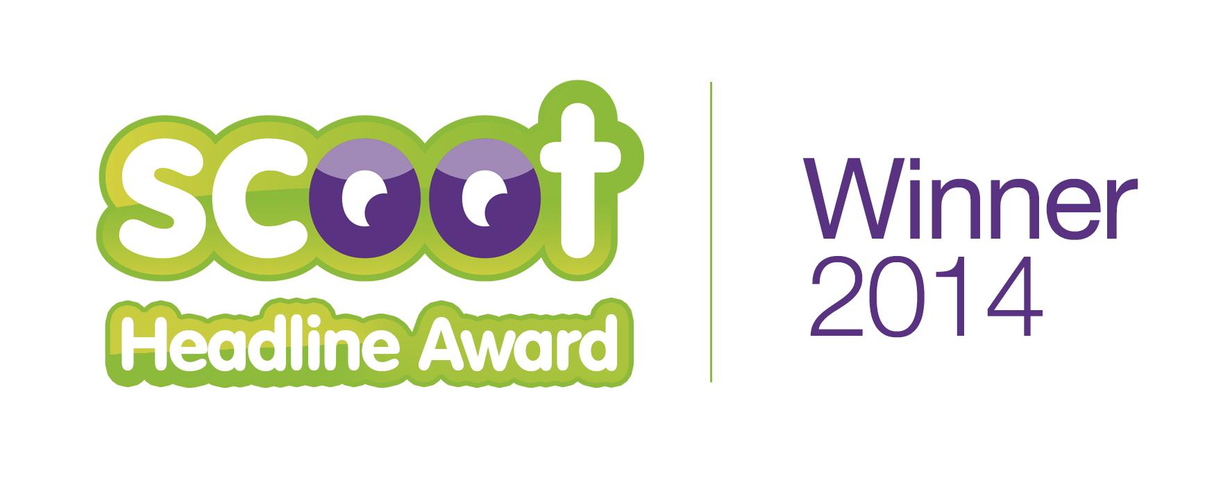 Scoot Headline Award Winner 2014